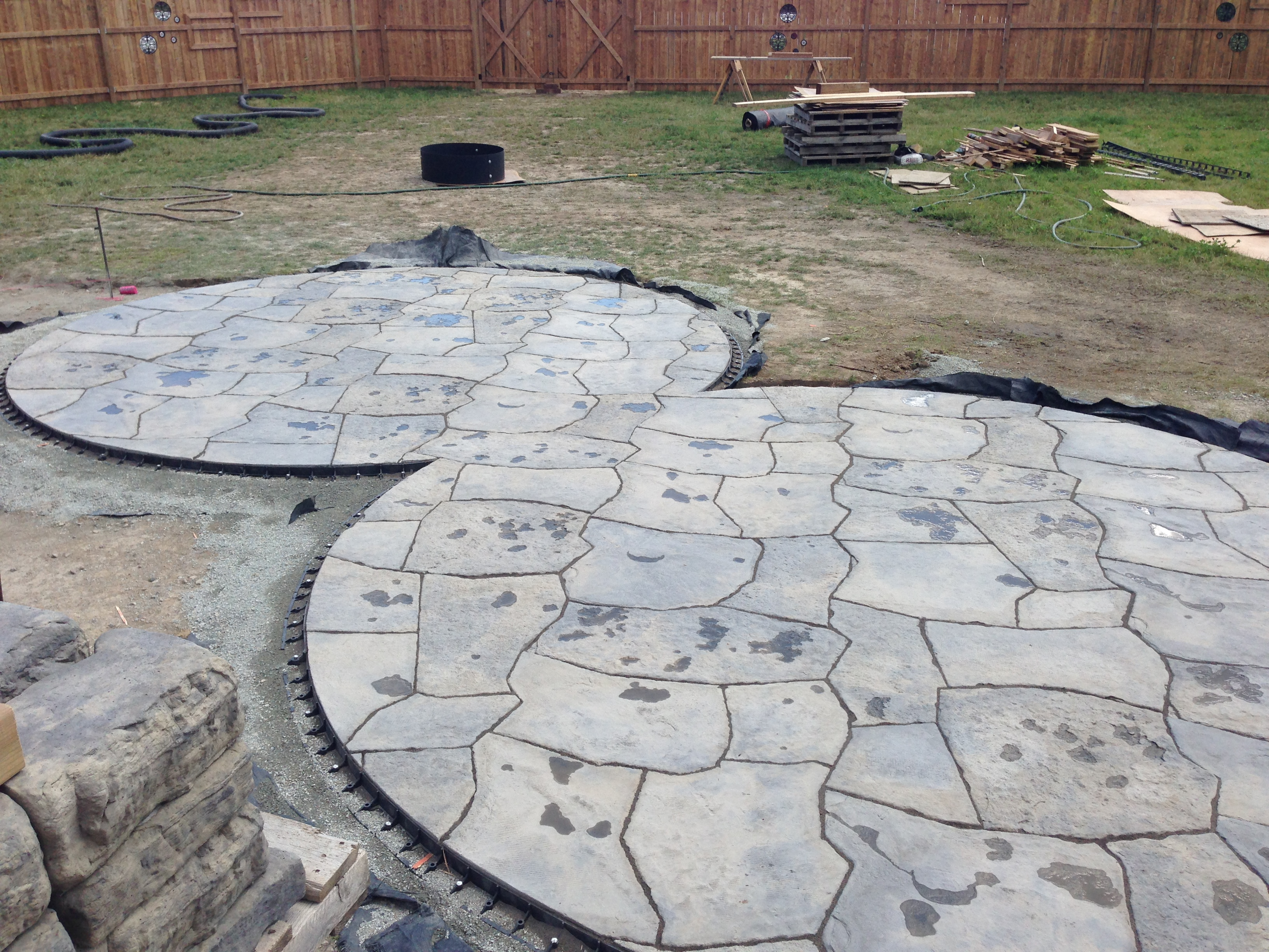 Patio Fireplace Project Hdvs Landscaping
